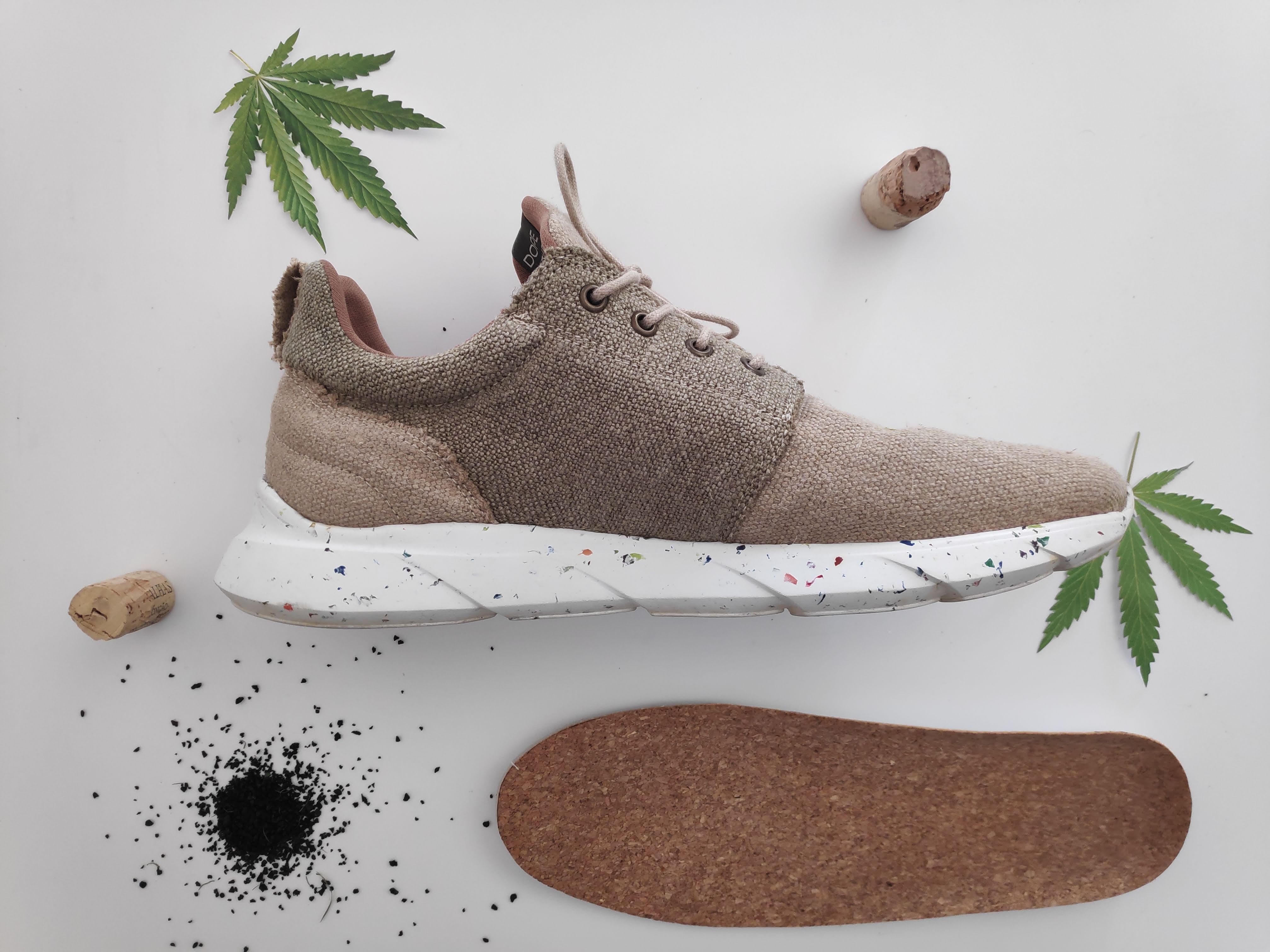 Zapatos de cannabis resistentes al agua, la nueva apuesta de la moda sostenible